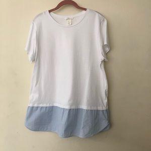 H&M White Teeshirt Blouse